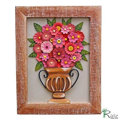 Quadro Vaso de Flores Rosas