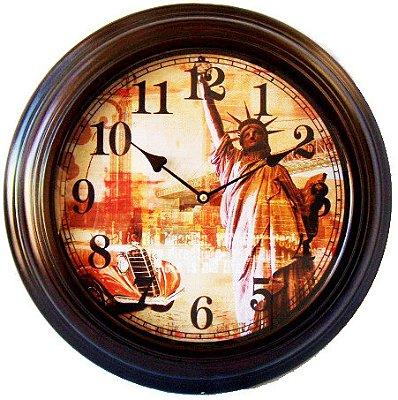 Relógio de Parede Retrô Estátua da Liberdade