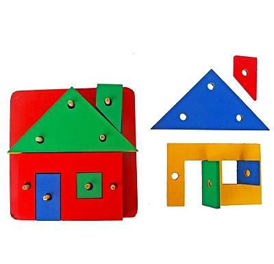 Brinquedo Pedagógico - Prancha De Seleção - Casinha 20 Peças