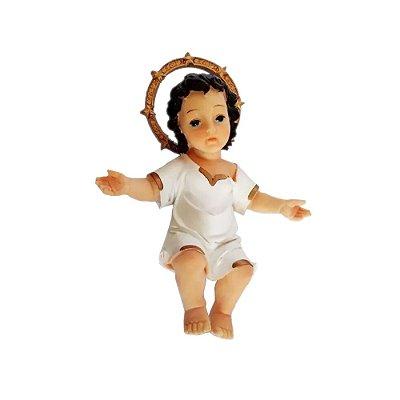Menino Jesus de Resina Deitado 24cm