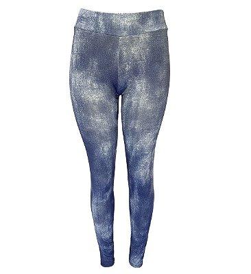 Calça Legging Suplex Estampa Imita Jeans Fake Coleção Fitness Numeração Até 56