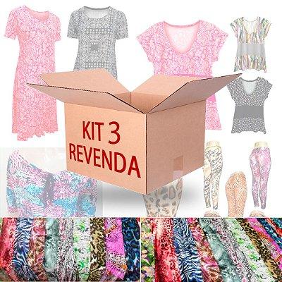 Kit Revenda 3 Moda Feminina 12 Peças
