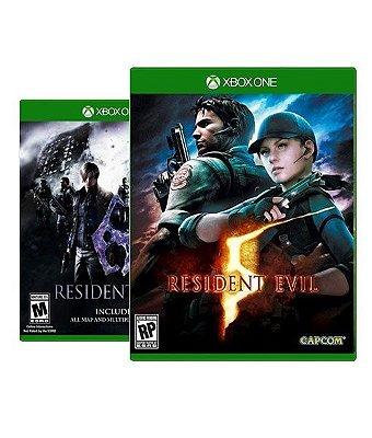 Resident evil 5 e 6 - Xbox One