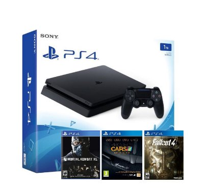 PlayStation 4 Slim 1TB Console + Fallout 4 + Project Cars + MKXL