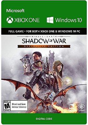 Terra Media Sombras Da Guerra Xbox One