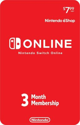 Assinatura online 3 e 12 meses Nintendo Switch