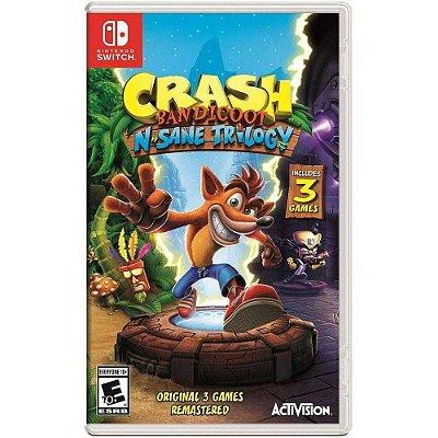 Crash Bandicoot N Sane Trilogia Nintendo Switch MIDIA FISICA