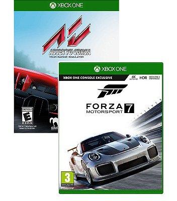 KIt Corrida Assetto Corsa e Forza Motorsport 7 Xbox One MIDIAS FISICAS