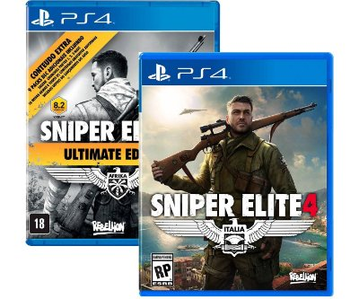 kit Sniper elite 3 e 4 Ps4 MIDIAS FISICAS