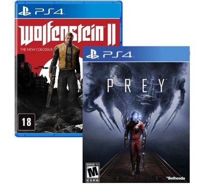 Kit Prey e Wolfenstein 2 PS4 MIDIAS FISICAS