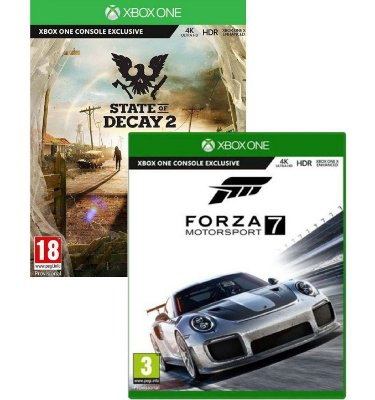 Kit Forza Motorsport 7 e State Of Decay 2 Xbox One MIDIAS FISICAS