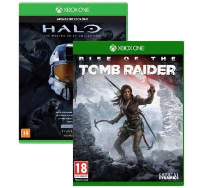 Halo Master Chief Collection e Rise Of The Tomb Raider Xbox One MIDIAS FISICAS