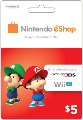 Cartão Eshop Wii U e 3DS