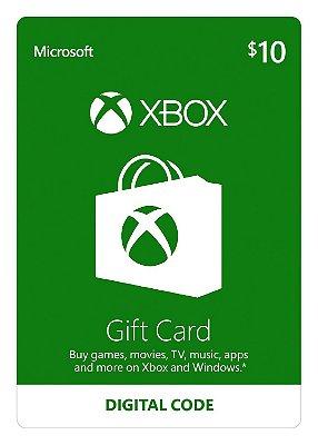 Cartão Presente Xbox Live US Xbox One e 360 Código Digital