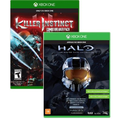 Kit Halo Master Chief Collection e killer Instinct Xbox One MIDIAS FISICAS