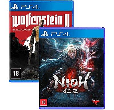Nioh e Wolfenstein 2 PS4 MIDIA FISICAS