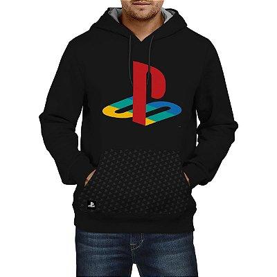 Blusa Moletom Playstation PLAY CLASSIC COLOR HOOD (Produto Licenciado Sony)