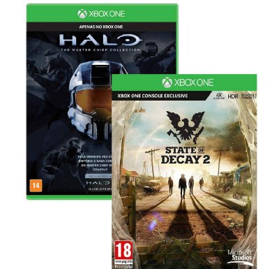 Kit State Of Decay 2 e Halo Master Chief Collection Xbox One MIDIA FISICA