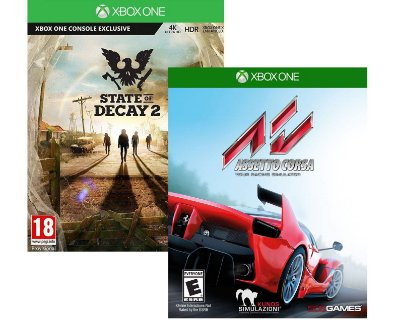 Kit Assetto Corsa e State Of Decay 2 Xbox One MIDIA FISICA