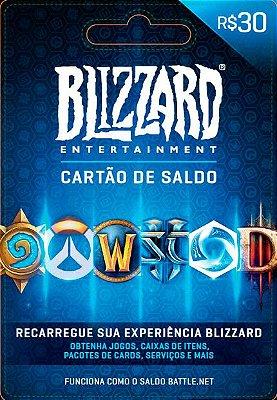 Cartão pre Pago Blizzard e Battle.net (30, 60 e 100 Reais)
