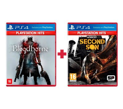 Bloodborne + Infamous Second Son PS4 Mídia Física