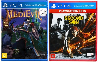 Kit Infamous Second Son + Medievil PS4 MIDIA FISICA