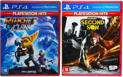 Kit Ratchet & Clank + Infamous Second Son Ps4 MIDIA FISICA