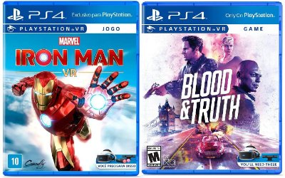 KIT VR Blood & Truth + Marvel Iron Man PS4  MIDIA FISICA