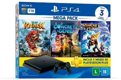 Console PS4 1TB Mega Pack Family