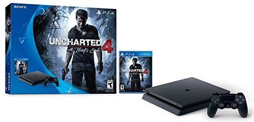 PS4 Slim 500gb Console - Uncharted 4 Bundle - Modelo CUH-2015A + NF