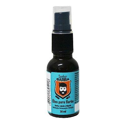 Óleo para Barba- Senhor Barba: blend exclusivo com 9 óleos essenciais, com proteção térmica: hidrata,nutre,restaura e repara pontas duplas.
