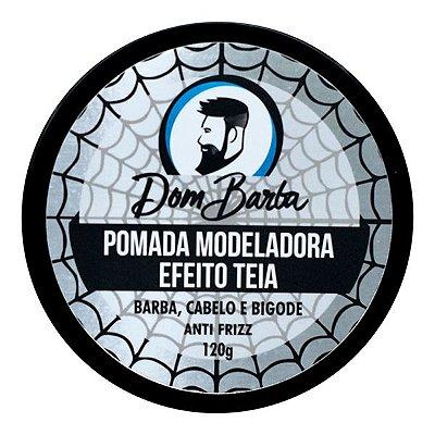 Pomada Modeladora Efeito Teia - Dom Barba: alta fixação, anti frizz e modela.