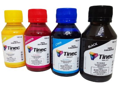 TINTA SUBLIMATICA 4 CORES TINEC 400 ml