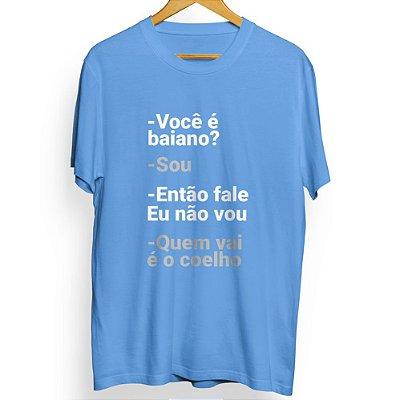 Camiseta Masculina Quem Vai é o Coelho