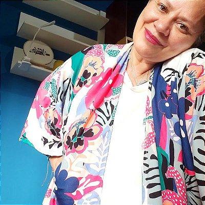 Kimono Midi Festa da Flor