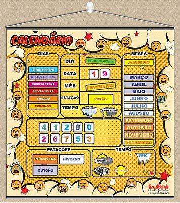 Cartaz Para Sala De Aula Calendário Emojis