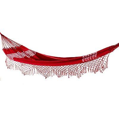 Rede de Dormir Casal Pernambucana Vermelha