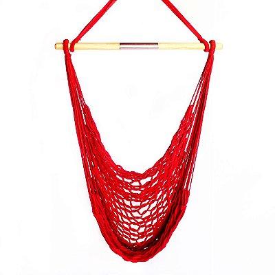 Rede Cadeira Trançada Vermelho