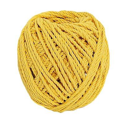 Cordão de Algodão Torcido São Francisco Amarelo 120 metros
