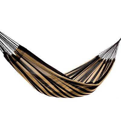Rede de Dormir Amazonas Nylon Listrado Modelo Café