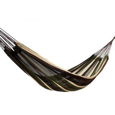 Rede de Dormir Amazonas Nylon Listrado Modelo Verde Exército