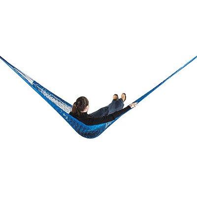 Rede de Dormir e descanso Camping Nylon Impermeável Azul Anil