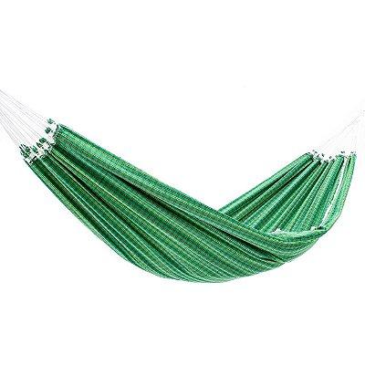 Rede de Dormir Algodão Lonada Xadrez Verde