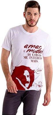 """Camiseta Belchior """"Amar e Mudar As Coisas Me Interessa Mais!"""""""