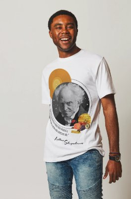 """Camiseta Schopenhauer """"A Música Exprime A Mais Alta Filosofia, Numa Linguagem Que A Razão Não Compreende"""""""