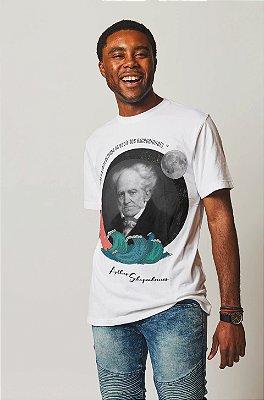 """Camiseta Schopenhauer """"A Solidão É A Sorte de Todos Os Espíritos Excepcionais"""""""