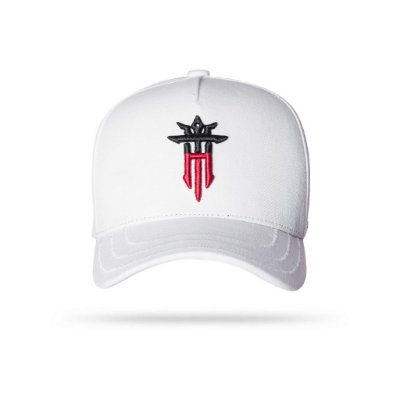CAP HALF WHITE RED