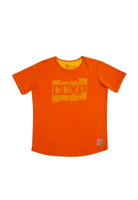 Camiseta CCXP Blocks Laranja