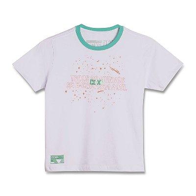 Camiseta Sideral Space Infantil Branca