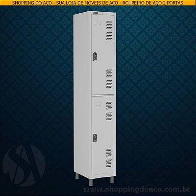 Roupeiro de Aço para Vestiário 2 Portas Grandes W3